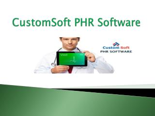 CustomSoft PHR Software
