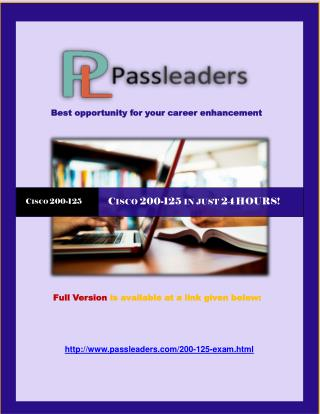 Passleader 200-125 Exam Questions