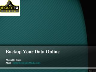 Backup Your Data Online