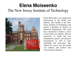 Elena Moiseenko - The New Jersey Institute of Technology