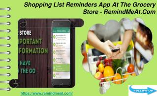 Shopping List Reminders App - RemindMeAt