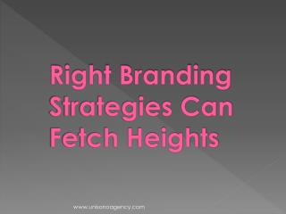 Right Branding Strategies Can Fetch Heights