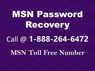 Phone Number for MSN Password Recovery - Tek Helplines