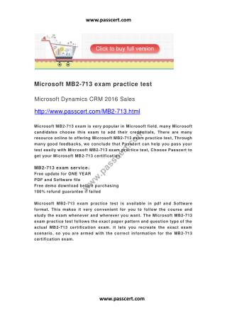 Microsoft MB2-713 exam practice test