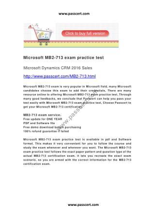 Microsoft MB2-713 exam practice test