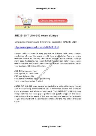 JNCIS-ENT exam JN0-343 dumps