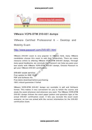 VMware VCP6-DTM 2V0-651 dumps