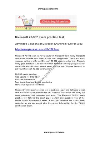 Microsoft 70-332 exam practice test