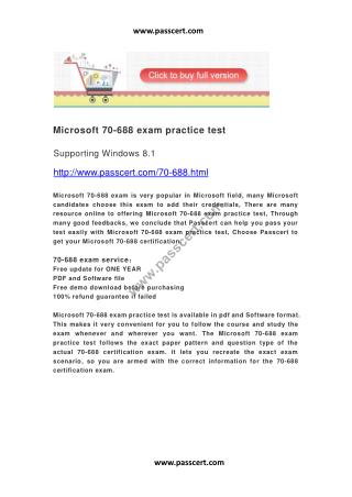 Microsoft 70-688 exam practice test