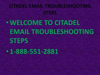 citadel email CUSTOMER SERVICE