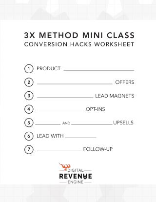 3x Conversion Method Checklist for 2016