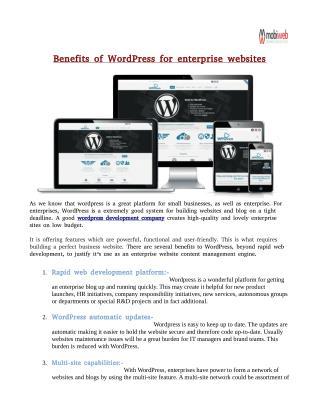 Benefits of WordPress for enterprise websites