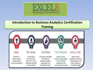 Introduction to Business Analytics Certification Training