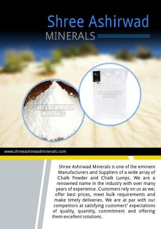 Shree Ashirwad Minerals Gujarat India
