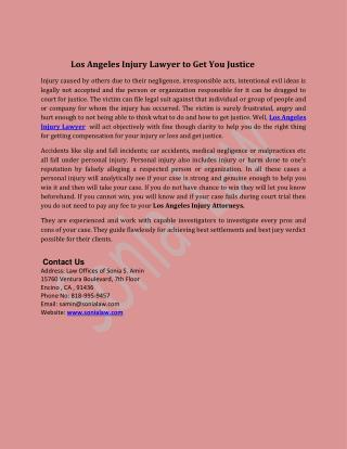 Los Angeles Injury Lawyer to Get You Justice
