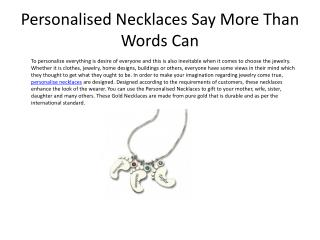Personalised Necklaces Say More Than Words Can