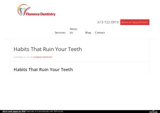 Habits That Ruin Your Teeth