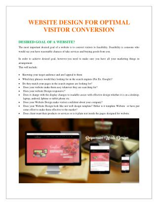 Website Design for Optimal Visitor Conversion