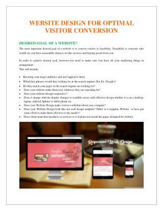 Website Design for Optimal Visitor Conversion