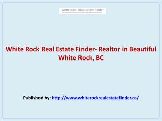 White Rock Real Estate Finder