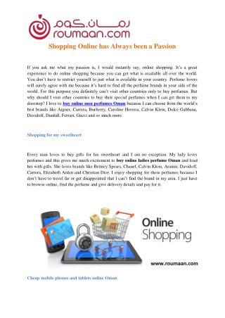 Buy Online Mens Perfumes Oman