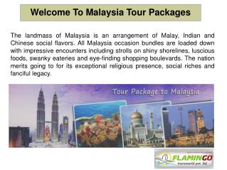 Malaysia Tour Packages - Explore The Beauty Of Malaysia