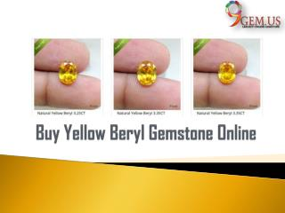 Buy Yellow Beryl Gemstone Online