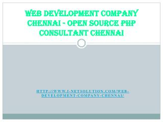Web Development Company Chennai - Open Source PHP Consultant Chennai