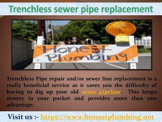 Trenchless pipe replacement | call us at (818) 840-8842