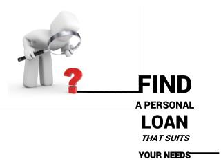 Find a Personal Loan that Suits Your Needs