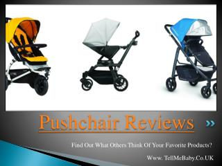 Pushchair Reviews