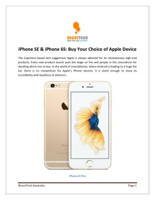 iPhone SE & iPhone 6S: Buy Your Choice of Apple Device