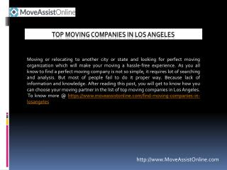 2016's Top Moving Companies in Los Angeles