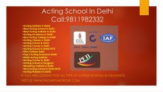 Acting Course After 12Th, Best acting School in Delhi NCR, Acting Institute in Delhi, Film Institute Delhi