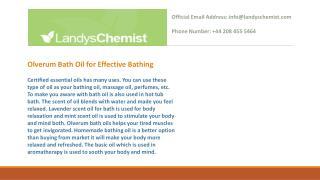 Olverum Bath Oil for Effective Bathing