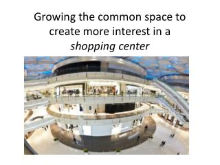 Growing Common Space to Create More Interest in Shopping Centers - Sierra Group