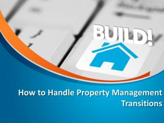 How Handle Property Management Transitions