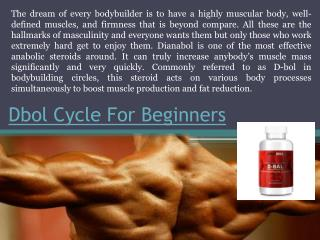 Dbol Cycle For Beginners Expert Guide