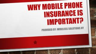 Why Mobile Phone Insurance Is Important?