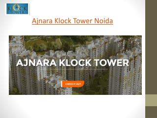 Ajnara Klock Tower Price List