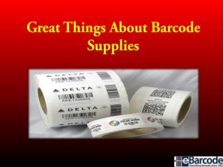 Great Things About Barcode Supplies