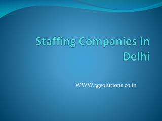 Guide To Choose The Right Staffing Agency