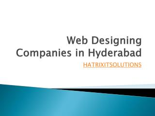 web designing companies in hyderabad