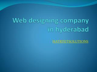 web design comapny in hyderabad