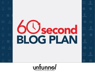 The 60-Second Content Marketing Plan Ebook
