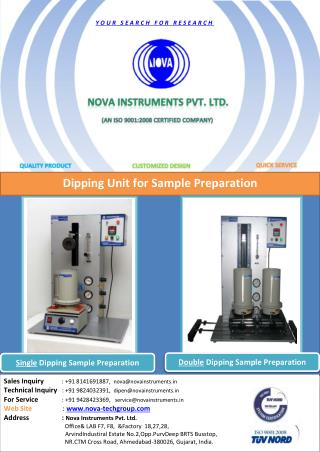 Nova Instruments Pvt. Ltd | Dipping Unit | Dipping Unit Equipments | Dipping Unit instruments