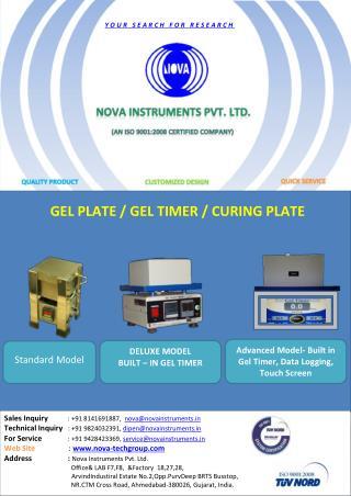 Gel Timer | Gel Timer instruments | gel timer measuring  instruments