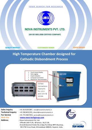 High Temperature Chamber | Cathodic Disbondment Process
