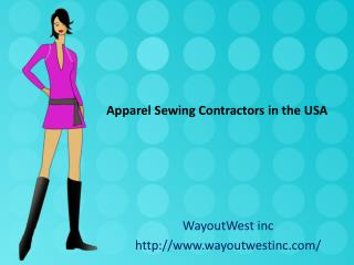 Apparel Sewing Contractors in the USA