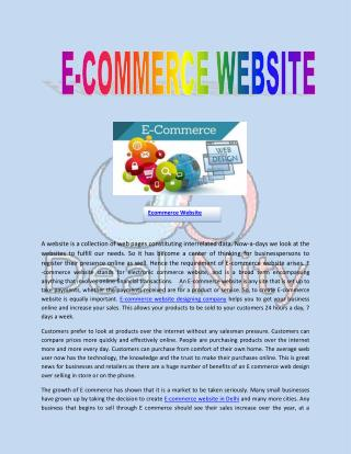 Create Ecommerce Website Company
